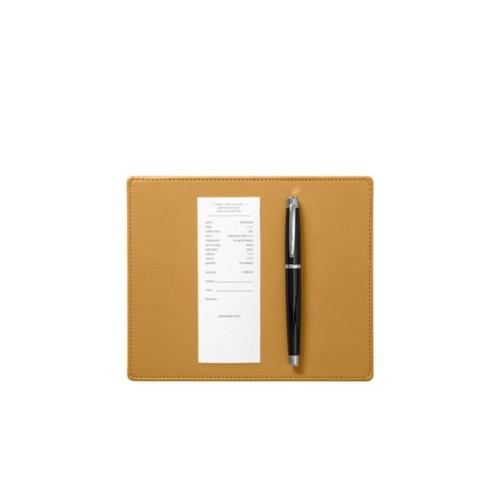 Tappetino sottofirma (20 x 17 cm) - Amarelo Mostarda - Pelle Liscia