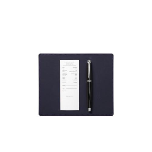 Unterschreib-Unterlage (20 x 17 cm) - Violett - Glattleder