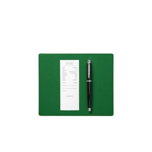 Almohadilla para firmar ( 20 x 17 cm) - Verde claro - Piel Liso