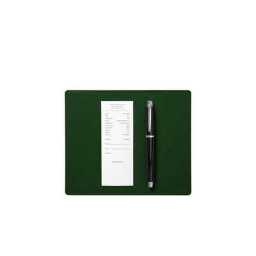 Tappetino sottofirma (20 x 17 cm) - Verde scuro - Pelle Liscia