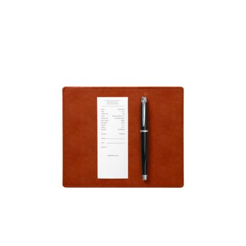 Almohadilla para firmar ( 20 x 17 cm) - Coñac  - Piel de curtición vegetal