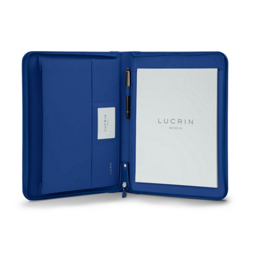 A4/US letter padfolio with zipper