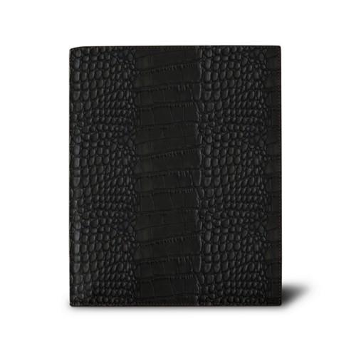 Week-to-week Desk Diary (7.1x 8.7 inches) - Black - Crocodile style calfskin
