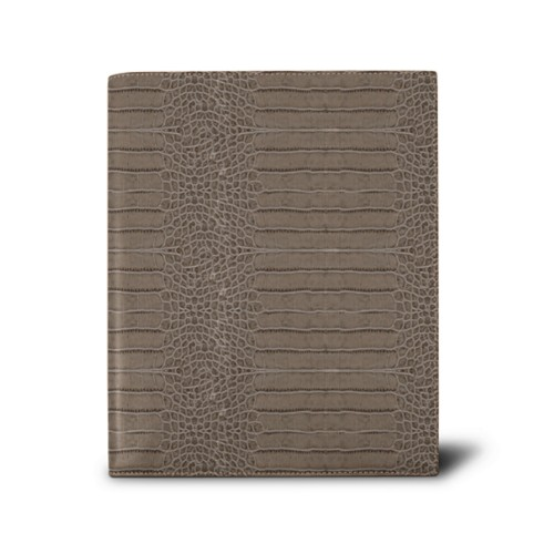 Week-to-week Desk Diary (7.1x 8.7 inches) - Light Taupe - Crocodile style calfskin