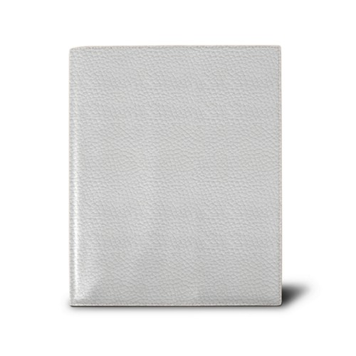 Week-to-week Desk Diary (7.1x 8.7 inches) - White - Granulated Leather