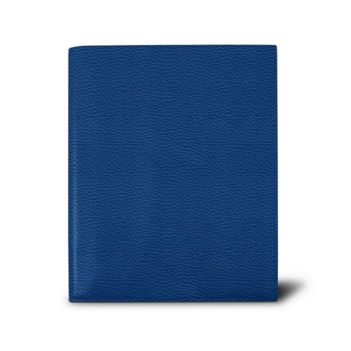 Week-to-week Desk Diary (7.1x 8.7 inches) - Royal Blue - Granulated Leather