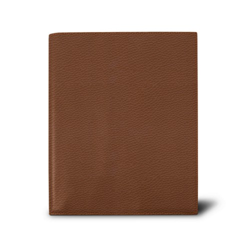 Week-to-week Desk Diary (7.1x 8.7 inches) - Tan - Granulated Leather