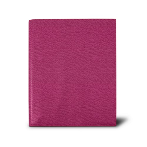 Week-to-week Desk Diary (7.1x 8.7 inches) - Fuchsia  - Granulated Leather