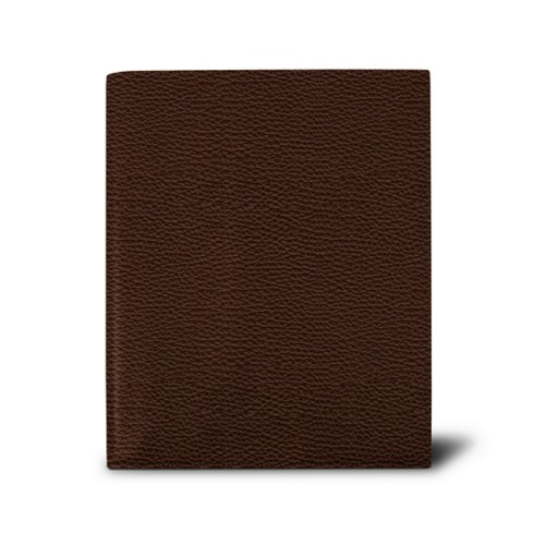 Week-to-week Desk Diary (7.1x 8.7 inches) - Brown - Granulated Leather