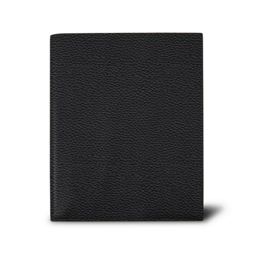 Week-to-week Desk Diary (7.1x 8.7 inches) - Black - Granulated Leather