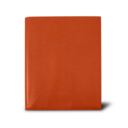 Week-to-week Desk Diary (7.1x 8.7 inches) - Orange - Granulated Leather