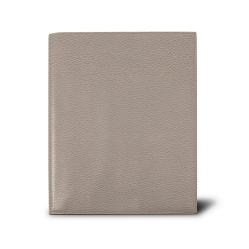 Week-to-week Desk Diary (7.1x 8.7 inches) - Light Taupe - Granulated Leather