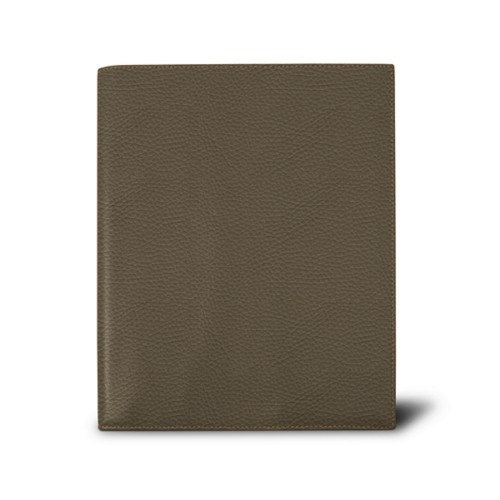 Week-to-week Desk Diary (7.1x 8.7 inches) - Dark Taupe - Granulated Leather