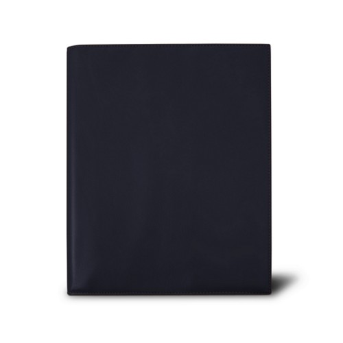 Week-to-week Desk Diary (7.1x 8.7 inches) - Navy Blue - Smooth Leather