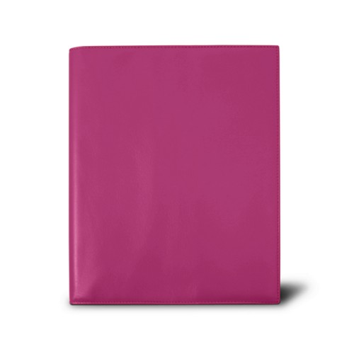 Week-to-week Desk Diary (7.1x 8.7 inches) - Fuchsia  - Smooth Leather
