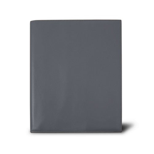 Week-to-week Desk Diary (7.1x 8.7 inches) - Mouse-Grey - Smooth Leather