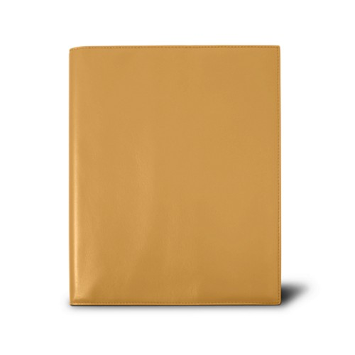 Week-to-week Desk Diary (7.1x 8.7 inches) - Mustard Yellow - Smooth Leather