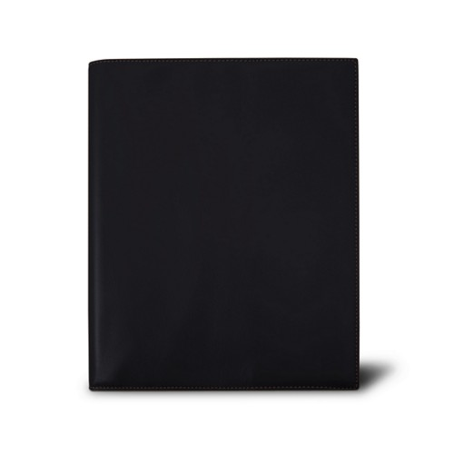 Week-to-week Desk Diary (7.1x 8.7 inches) - Black - Smooth Leather