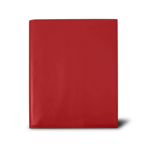Week-to-week Desk Diary (7.1x 8.7 inches) - Red - Smooth Leather