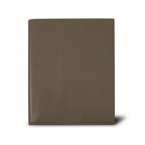 Week-to-week Desk Diary (7.1x 8.7 inches) - Dark Taupe - Smooth Leather