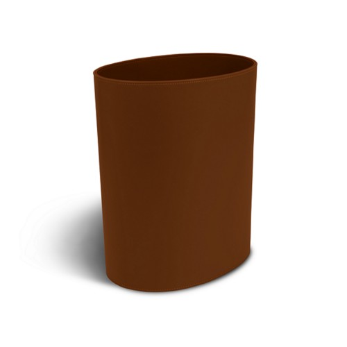 Oval paper waste basket