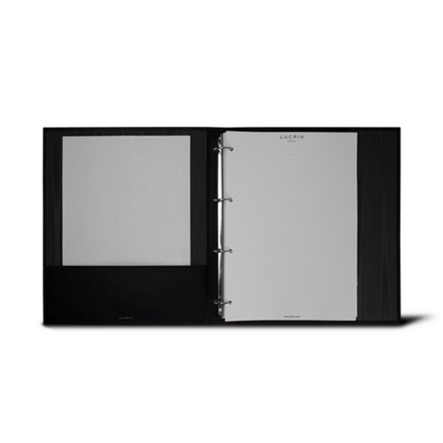 A4 Ring binder - 4 rings (200 sheets) - Black - Bonded Leather