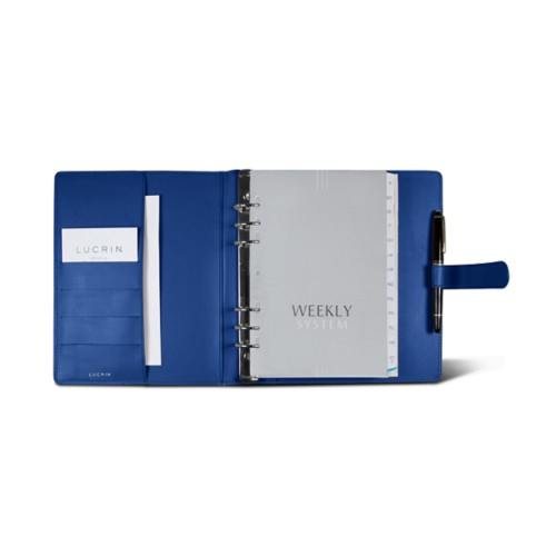 Large organiser (180 x 245 mm) - Royal Blue - Smooth Leather