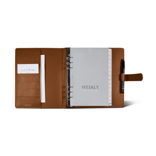Large organiser (180 x 245 mm) - Tan - Smooth Leather