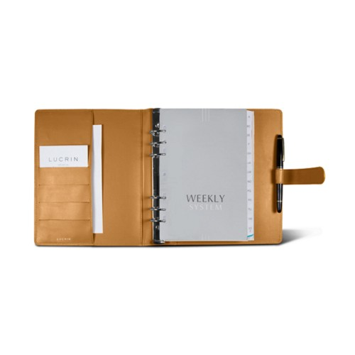 Large organiser (180 x 245 mm) - Natural - Smooth Leather