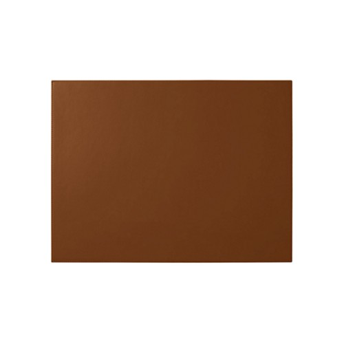 Custom desk pad (60 x 40 cm) - Tan - Smooth Leather