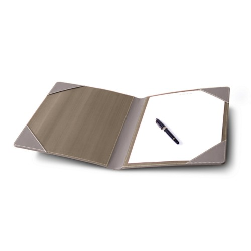 Signature book - Light Taupe - Smooth Leather