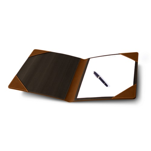 Signature book - Tan - Bonded Leather