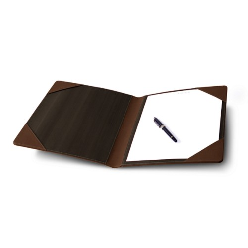 Signature book - Dark Brown - Bonded Leather