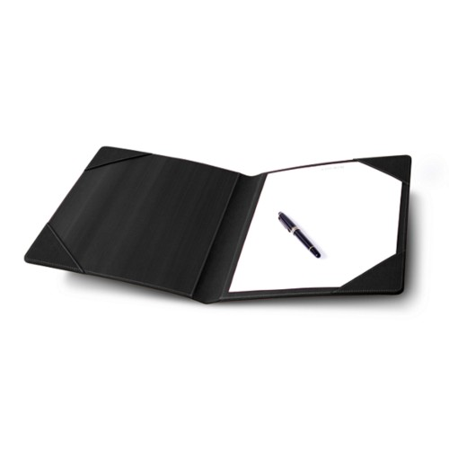 Signature book - Black - Bonded Leather