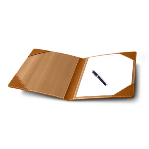 Signature book - Natural - Bonded Leather