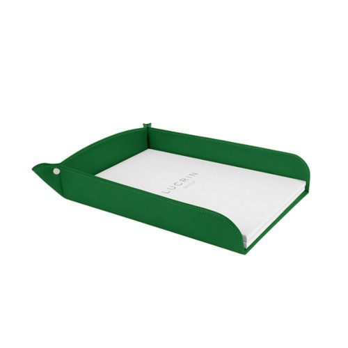 A4 paper tray - Light Green - Smooth Leather