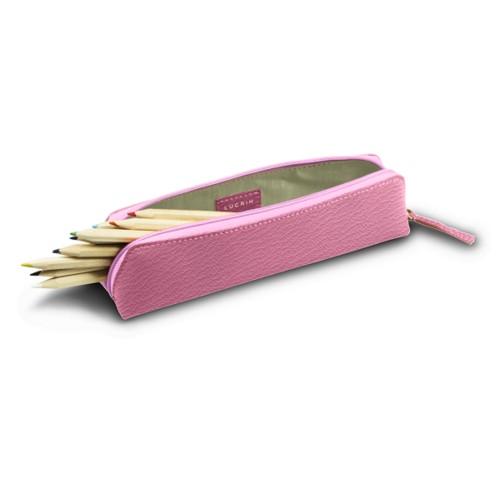 Astuccio per matite - Rosa - Pelle di Capra