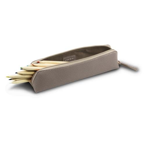 Estuche para lápices - Taupe Luz - Piel de Cabra