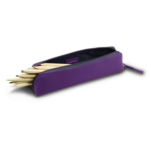 Estuche para lápices - Purple - Goat Leather