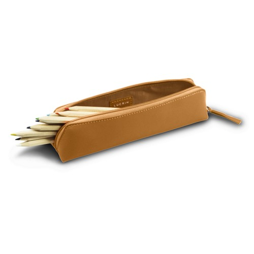 Pencil case - Natural - Smooth Leather