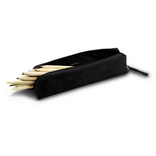 Astuccio per matite - Nero - Pelle conciata al vegetale