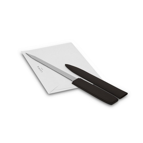 Letter opener - Dark Brown - Smooth Leather
