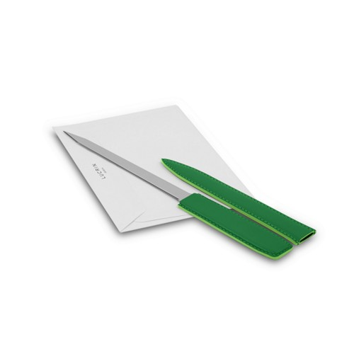 Letter opener - Light Green - Smooth Leather