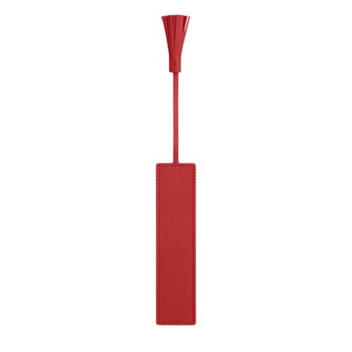 marcador de cuero con borla