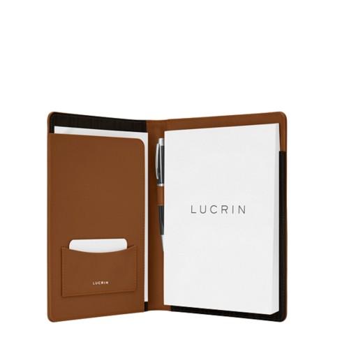 Porte document A5 - Cognac - Cuir Lisse