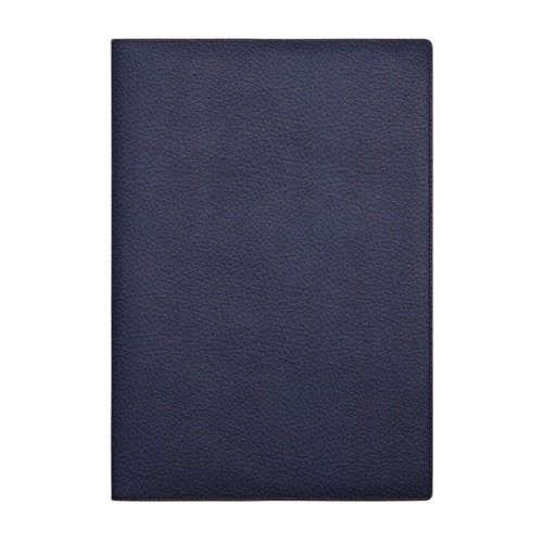 Couverture cahier A4 - Bleu Marine - Cuir Grainé