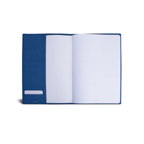 A4 Notebook cover - Royal Blue - Granulated Leather