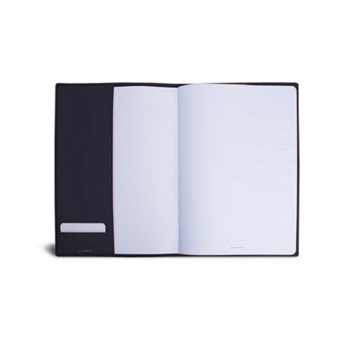 A4 Notebook cover - Navy Blue - Smooth Leather