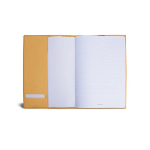 A4 Notebook Cover - Mustard Yellow - Smooth Leather