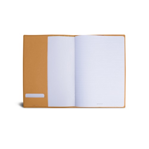 A4 Notebook cover - Natural - Smooth Leather